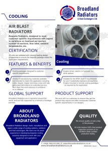 Air Blast Radiators